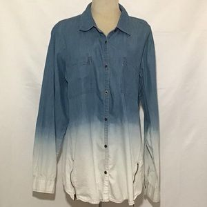 Tops - Maurices Ladies Cotton Blend Button Front XL Top